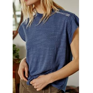 Free People Take a Hike Tee in Washed Navy